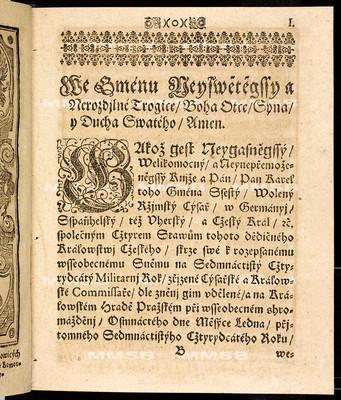 Artykulové všeobecného sněmovního snešení, jenž ... dne 18. měsíce ledna léta 1740 předneseny a 17. dne měsíce listopadu téhož roku ... ode všech čtyř stavův tohoto království českého zavřeny a publikovány byli