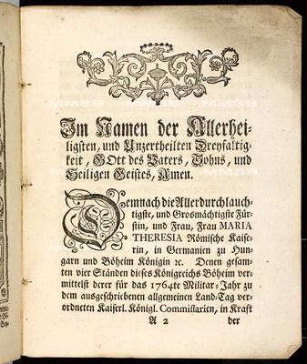 Artickuln des allgemeinen Land-Tag-Schlusses, welche ... den 12. Septembris abgewichenen 1763. Jahrs ... proponiret, und sodann den 27. Septembris 1764 von allen vier Ständen geschlossen worden