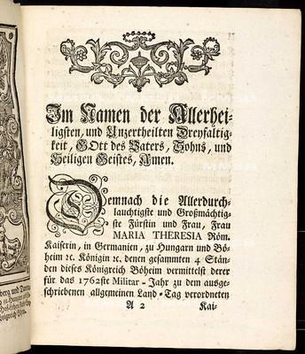 Artikulen des allgemeinen Land-Tag-Schlusses, so ... den 3ten Aug. des abgewichenen 1761sten Jahrs ... proponiret, sodann ... den 25. Octob. 1762 von allen Ständen geschlossen und publ. worden