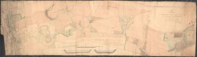 Plan der Strassenzüge und Gegen von Pilsner Sachsen Thore über den rothen Berg bis unterhalb Dorf Bolewetz von daüber den Třemoschner Teichdam bis in die regulierte Linie der Waldstrasse gegen Plass.