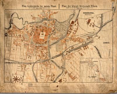 Plán královského kr. města Plzně : Plan der königl. Kreisstadt Pilsen