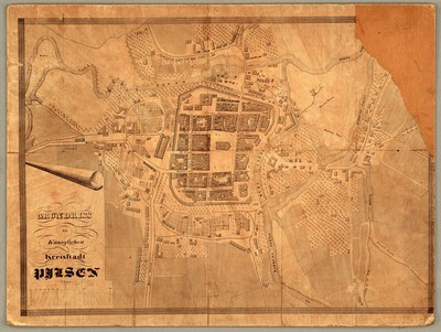 Grundriss der Königlichen Kreisstadt Pilsen