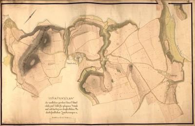 XIII. Situationsplan der sammtlichen zwischen Chrast Schmetschitz und Sedletzko gelegen Gründe und sich hierbey von obrigkeitlichen Boden befindlichen Zuackerungen.