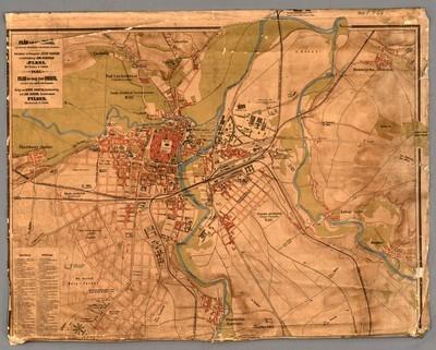 Plán král. města Plzně, upravený městským stavebním úřadem = Plan der Königl. Stadt Pilsen, revidirt von städtischen Bauamte