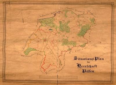 Situations Plan der Herrschaft Pilsen.