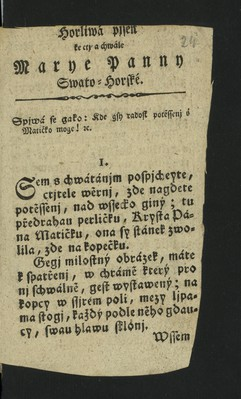 Píseň - Marie Svatohorská