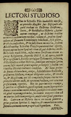 Historiae Sacrae ... Ecclesiasticae Examina