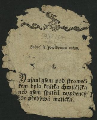 Píseň - Anna Frantálská