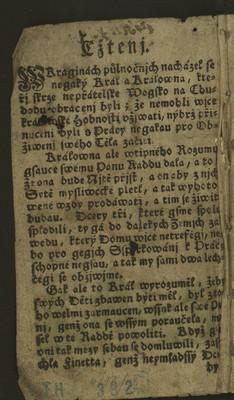 Velmi kratochvilné čtení - Finetta
