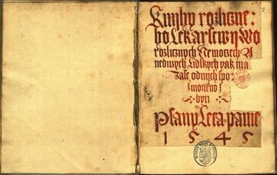 Sborník lékařský z roku 1545.