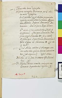 Håndskrift med blandet indhold om                      verdenshistorien, annaler og legender