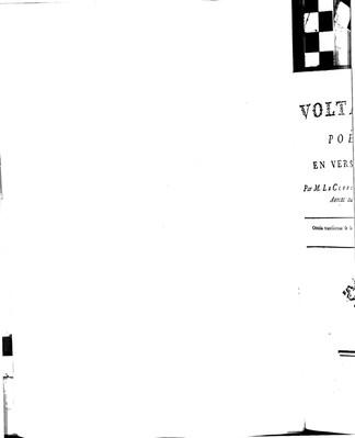 Voltaire, Poëme En Vers Libres / Par M. Le Clerc de Montmerci, Avocat au Parlement