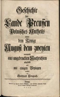 Geschichte der Preußischen Lande königlisch-polnischen Antheils..., t. 9