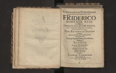 Serenissimo Ac Potenttissimo Principi Ac Domino Dn. Friderico [...] humilima adclamatione gratulatur Caspar Cunradus
