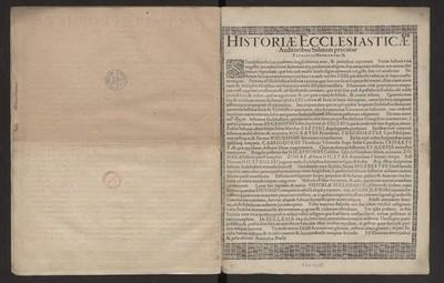 Historiæ Eclesiasticæ Auditoribus Salutem / precatur Zacharias Hermannus.