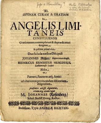 Divinam Curam & Gratiam in Angelis Limitaneis ...