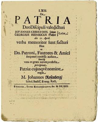 De Patria Duo Discipuli valedicturi ...