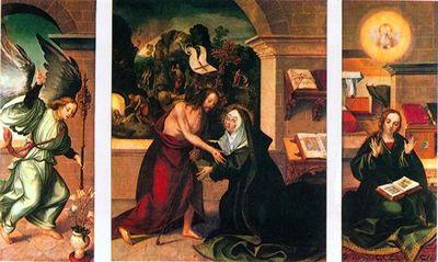 Tríptico da Aparição de Cristo à Virgem