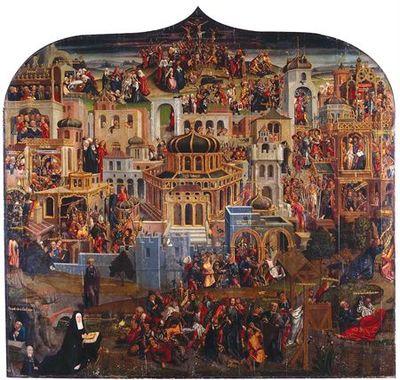 Panorama de Jerusalém /Paixão de Cristo segundo Simão Pedro