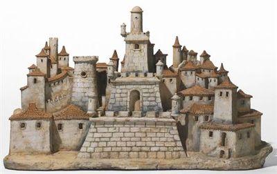 Cidadela com torre quadrangular