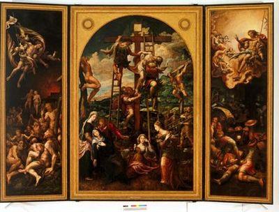 Triptico: Descida da Cruz, Cristo Ressuscitado e Descida de Cristo ao Limbo - Conversão de S. Paulo