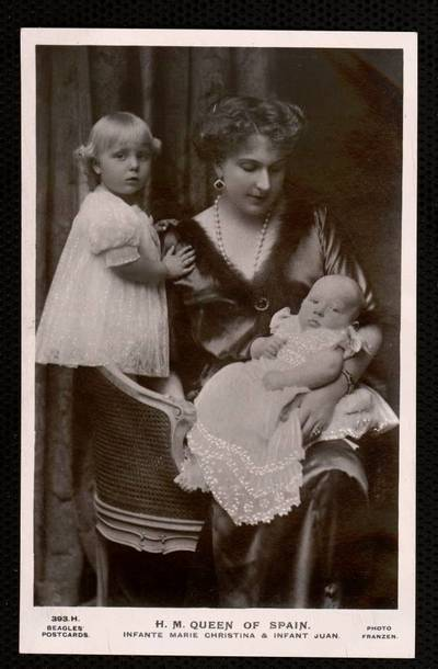 H.M. Queen of Spain, Infante Marie Christina and Infant Juan