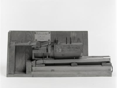 modello di meccanica di pianoforte,Schroeter, 1721