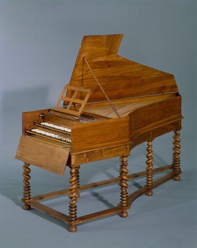Fac-similé du clavecin de Vincent Tibaut (E.997.11.1, Musée de la musique, Paris)