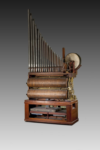 Cilinderorgel met fluitregister, slagwerk en componium functie