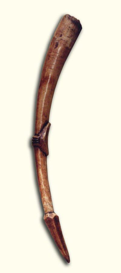 Trompe traversière en ivoire