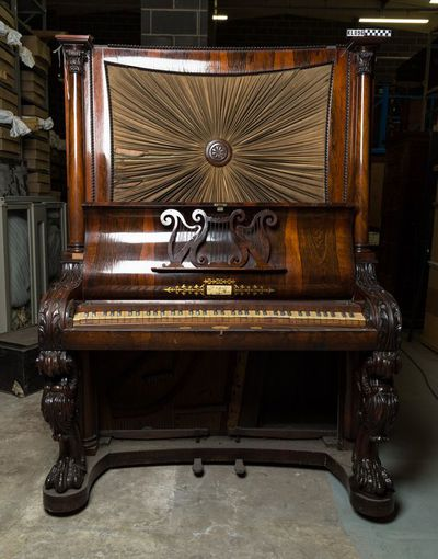 Upright pianoforte