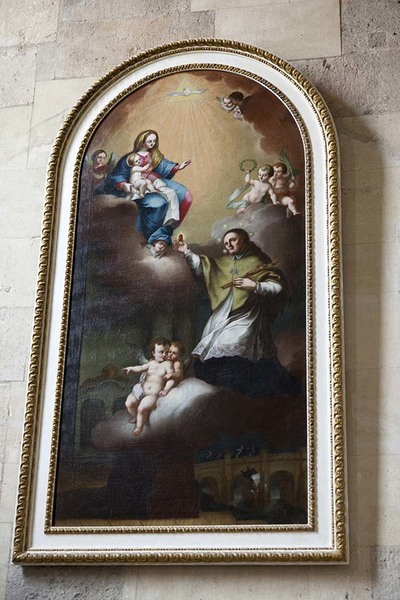 Photo of a painting with Jesus Christ