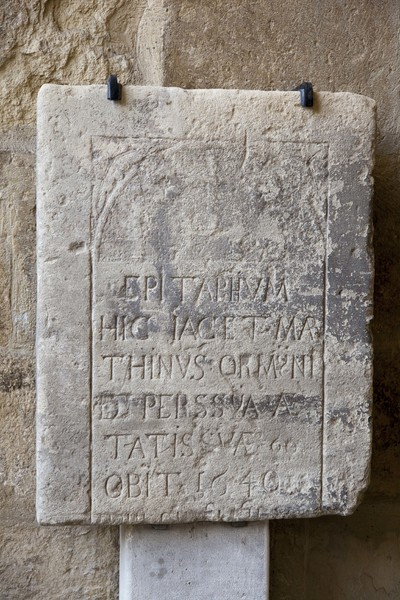 Photo of a funerary inscription