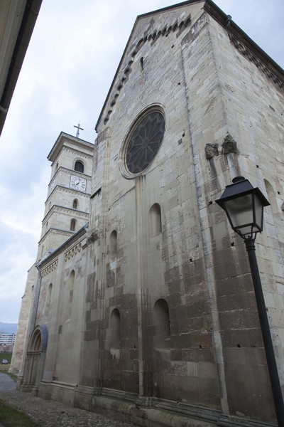 Photo of the southern facade Saint Michael Roman Catholic Cathedral