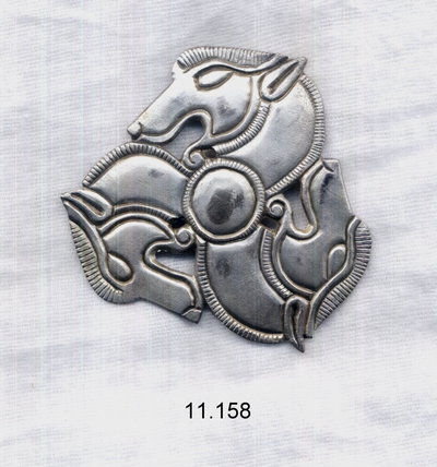 Photo of a Thracian silver applique