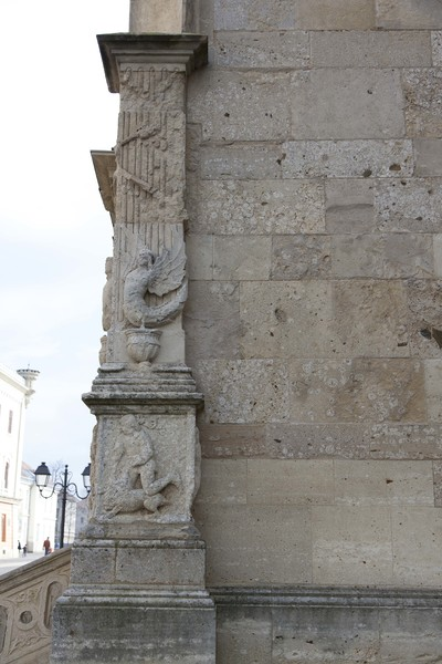 Photo of an architectural detail from exterior pillar Saint Michael Cathedral