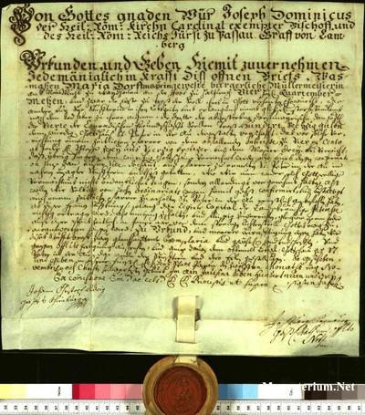 Urkunden 1739 XI 12
