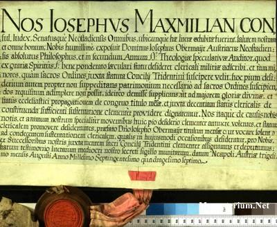 Urkunden 1747 VIII 30