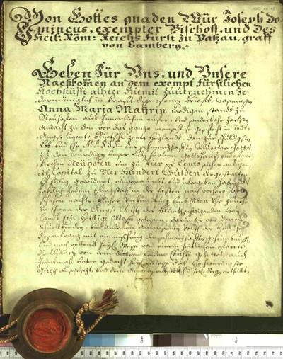 Urkunden 1748 X 07
