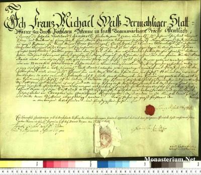 Urkunden 1750 VIII 25
