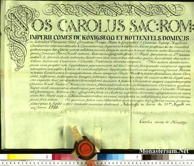 Urkunden 1751 VIII 23