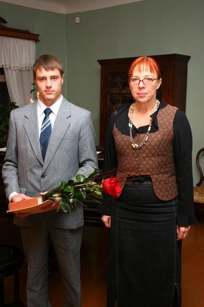 Foto. Kreutzwaldi mälestuspäev. Toivo Varrik, Merle Sulg. Võru, 14.12.2007.