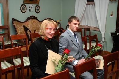 Foto. Kreutzwaldi mälestuspäev. Marin Laak, Toivo Varrik. Võru, 14.12.2007.