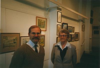 Foto. JÜRI HELBERG ja HELMIIRE ONG. Rootsi, 1995.