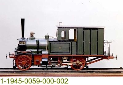 Tenderdampflok T 0 No. 83 mit Verbundtriebwerk, Modell 1:5