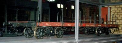 Vierachsiger Schienenwagen, Plattformwagen Stettin 41302, Modell 1:5