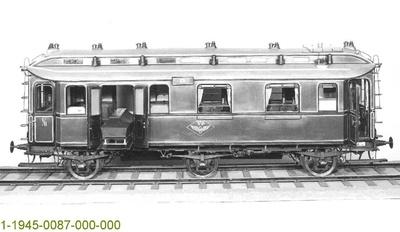 Eisenbahn - Leichenwagen Altona 23 der DWL, dreiachsig,Modell 1:5