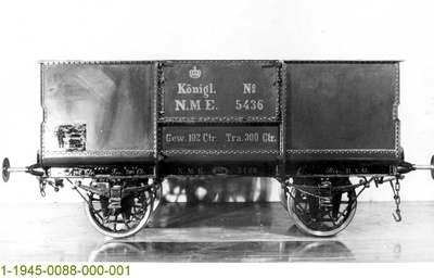 Kohlenwagen NME 5436, ganzeisern, 1863, Modell 1:5