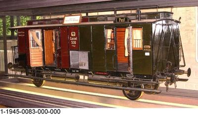 Vereinigter Nebenbahn-Gepäck- und Postwagen Cassel 35, nach Musterplan M IIa5 II.Aufl.1897,Modell 1:5