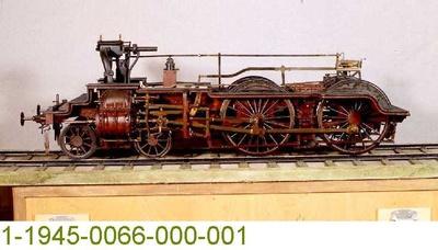 Untergestell einer Schnellzugdampflok, Modell 1:5